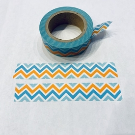 ZigZag Washi Tape - Blue/Org