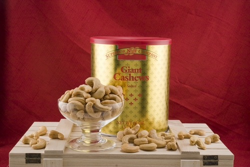 Giant Cashews Gold Tin (3.75 Lb. Tin) - Salted