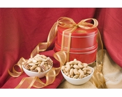 Giant Whole Cashews/Superior Mixed Nut Gift Tin Tower - Salted