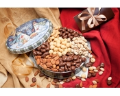 Holiday Assortment of Nuts Gift Tin