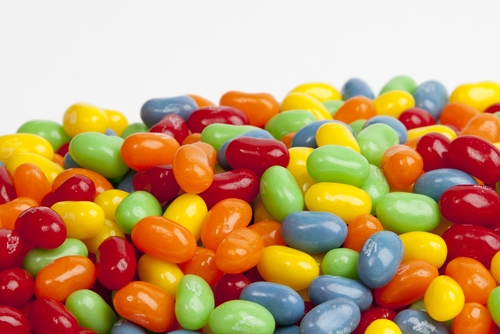 Assorted Sour Mix Jelly Beans (1 Pound Bag)