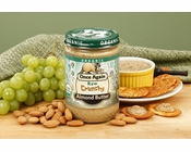 Lightly Toasted Crunchy Organic Almond Butter (1 Pound Jar)