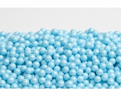 Pearl Powder Blue Sugar Candy Beads (1 Pound Bag)