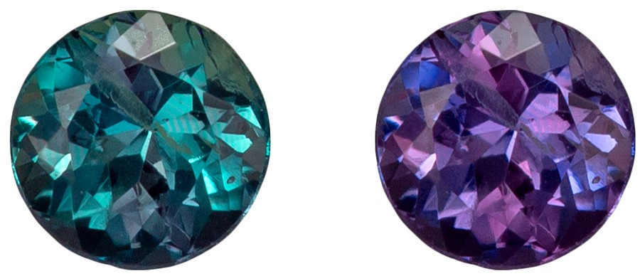 Genuine Classic Gem Alexandrite Round Gemstone 0.24 carats, Round Cut, 3.60 mm
