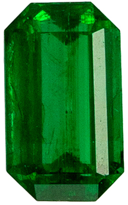 Beautiful Emerald Natural Gem, 5 x 3 mm, Vivid Rich Green, Emerald Cut, 0.27 carats