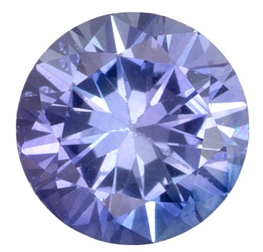 Natural Blue Sapphire Gemstone, 0.28 carats, Round Cut, 3.9 mm, Great Deal on This Gem