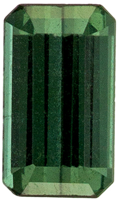 Wonderful Tourmaline Genuine Gem, 0.31 carats, Bluish Green, Emerald Cut, 5.2 x 3mm