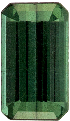 Wonderful Blue Green Tourmaline Gemstone 0.31 carats, Emerald Cut, Bluish Green, 5.2 x 3 mm