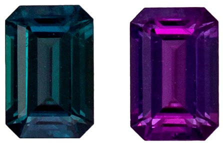 Genuine Alexandrite Gemstone from Brazil, 0.31 carats, Emerald Cut, 4.7 x 3.1  mm