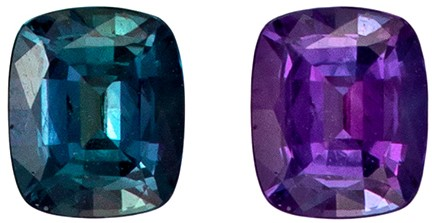 Genuine Alexandrite Gemstone, Super Quality Brazil Origin, 0.33 carats, Cushion Cut, 4.5 x 3.7  mm
