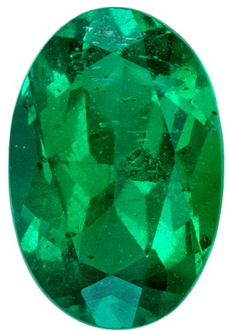 Must See Green Emerald Faceted Gem, 0.36 carats, Oval Cut, 5.8 x 3.9  mm , Very High Quality Gem