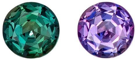 0.40 Carat Super Color Change Real Alexandrite Stone in Round Cut Genuine Gemstone