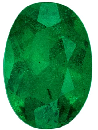 Loose Natural Green Emerald Gemstone, 0.41 carats, Oval Cut, 5.7 x 4  mm , Great Low Price