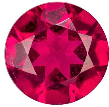 Beautiful 0.43 carats Rubellite Tourmaline Round Genuine Gemstone, 5 mm
