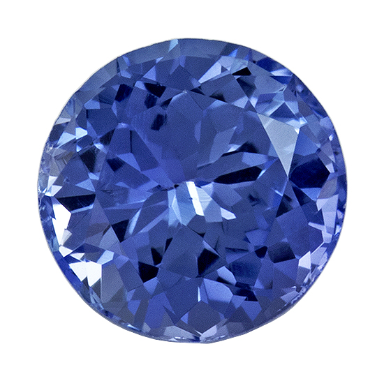 Loose Natural Blue Sapphire Gemstone, 0.5 carats, Round Cut, 4.5 mm , Gemmy Low Cost Stone