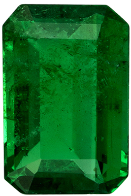 0.51 carats High Color Emerald Gemstone in Rich Green, 6 x 4 mm Calibrated Size