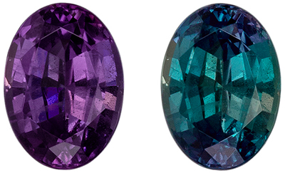 Fine Quality Alexandrite Loose Gem, Oval Cut, Teal Blue to Magenta, 5.5 x 3.9 mm, 0.51 carats