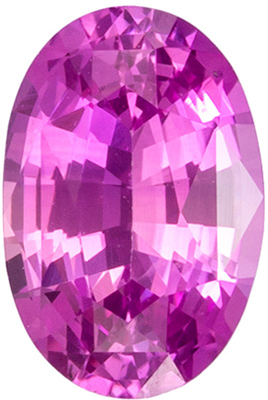 0.52 carats Pink Sapphire Loose Gemstone in Oval Cut, Medium Pink, 5.8 x 3.9 mm