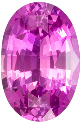 Calibrated Size Sapphire Quality Gem, 0.52 carats, Vivid Medium Pink, Oval Cut, 5.8 x 3.9mm