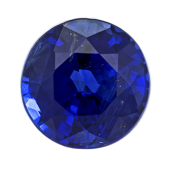 Genuine Blue Sapphire Loose Stone, 0.54 carats, Round Cut, 4.35 mm , High Quality - Low Cost Gem