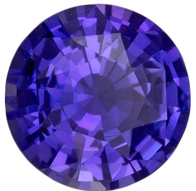 Loose Genuine Purple Sapphire Genuine Gem, 0.54 carats, Round Cut, 5 mm , Amazing Color Low Price
