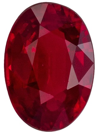 Terrific Buy on Red Ruby Loose Gem, 0.54 carats, Oval Cut, 5.9 x 4.1  mm , Amazing Color Low Price