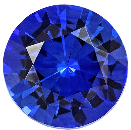 Unique Blue Sapphire Genuine Stone, 0.55 carats, Round Cut, 4.8 mm , Great Low Price