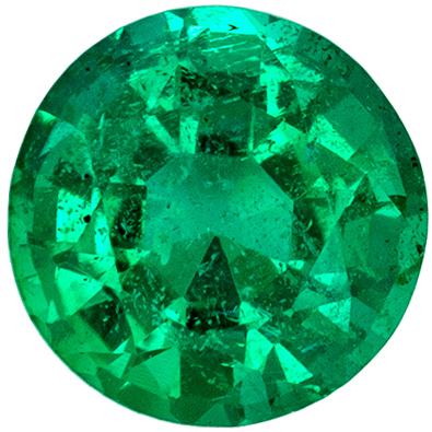 Bright & Lively Emerald Loose Gem, 0.55 carats, Vivid Rich Green, Round Cut, 5.3 mm