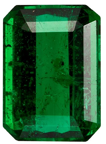 0.56 carats Emerald Loose Gemstone in Emerald Cut, Rich Green, 5.9 x 4.2 mm