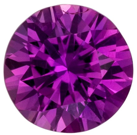 Natural Stunning Purple Sapphire Faceted Gem, 0.57 carats, Round Cut, 4.9 mm , Very High Quality Gem