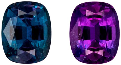 Loose Fine Alexandrite Gemstone, Brazil Origin, 0.58 carats, Cushion Cut, 5.3 x 4.2  mm