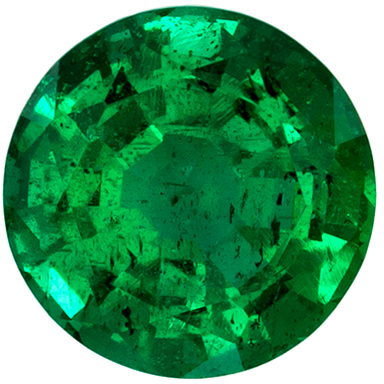 Beautiful Emerald Quality Gem, 0.58 carats, Vivid Medium Green, Round Cut, 5.4 mm
