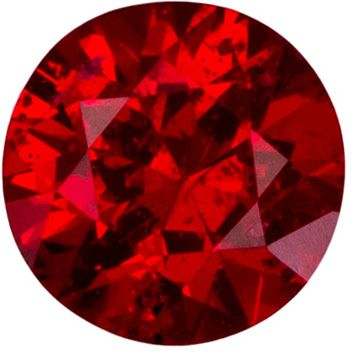Fiery Red 0.58 carat Red Spinel Round Gemstone, Super Color in 5.30  mm
