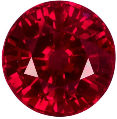 0.59 carats Fiery Gem Round Ruby Loose Gem, Open Rich Red Color in 4.6 mm Round - SOLD
