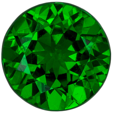 Bright & Lively Tsavorite Gemstone 0.61 carats, Round Cut, Rich Grass Green, 5.4 mm