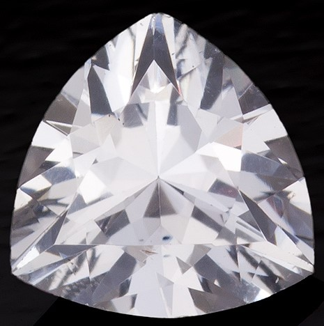 Natural White Sapphire Gemstone, Trillion Cut, 0.61 carats, 5.6 mm , AfricaGems Certified - A Deal