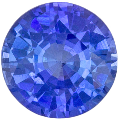Highly Requested Sapphire Loose Gem, 5 mm, Rich Blue, Round Cut, 0.62 carats