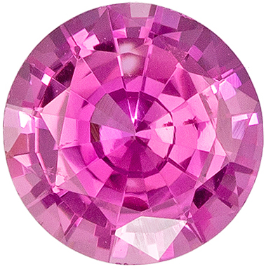 Highly Requested Round Cut Pink Sapphire Gem, 5 mm, Vivid Pure Pink Color, 0.62 carats