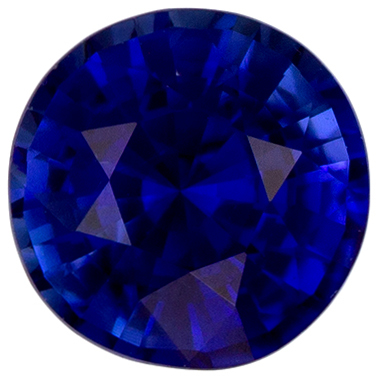 Natural 0.63 carat Blue Sapphire Gemstone in Round Cut 5 mm