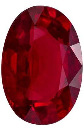 Loose Genuine Red Ruby Faceted Gem, 0.63 carats, Oval Cut, 6 x 4.2  mm , Must See This Gemstone