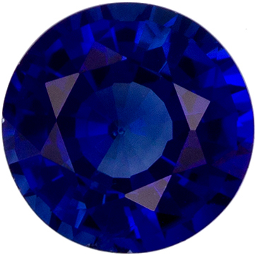 Stunning 0.64 carat Blue Sapphire Gemstone in Round Cut 5 mm