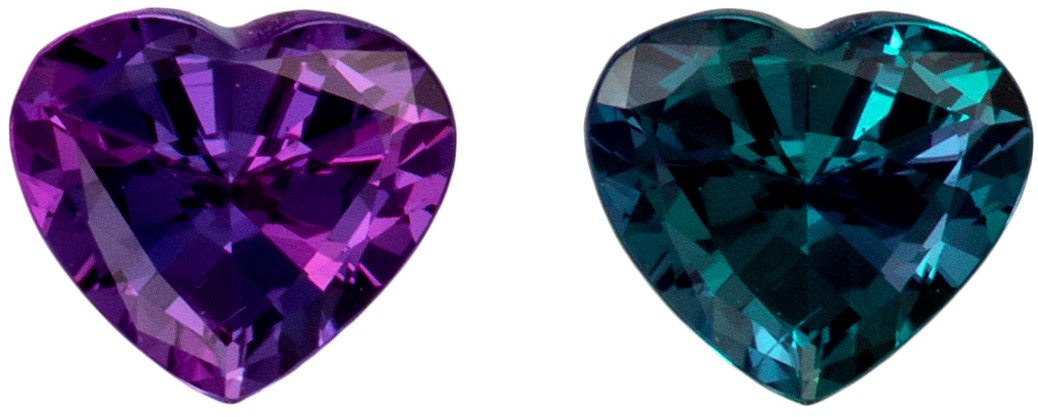 Rare Shape Heart Cut Alexandrite Gemstone, Rare Shape & Quality, 0.64 carats, 5.9 x 5.3  mm