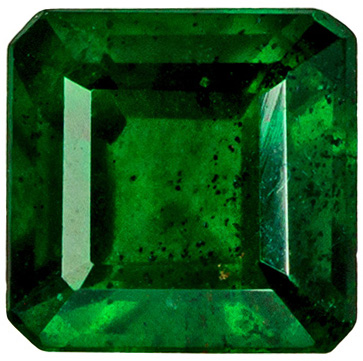 Vivid Green Color in 0.64 carat Loose Emerald Gemstone, 4.9mm