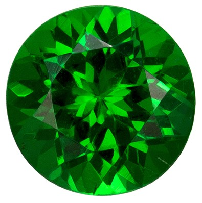 0.65 carats Tsavorite Loose Gemstone in Round Cut, Vivid Rich Green, 5.1 mm
