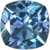 Hard to Find Sapphire Loose Gem, 0.66 carats, Medium Teal Blue, Cushion Cut, 5 mm