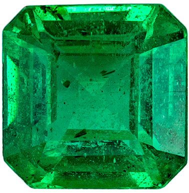 Totally Eye Clean Emerald Genuine Gem, Vivid Medium Green, Emerald Cut, 5.2 mm, 0.68 carats