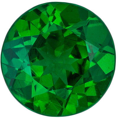 Lovely Tsavorite Genuine Gem Round Cut, Medium Grass Green, 5.4 mm, 0.68 carats