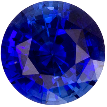 Gorgeous 0.69 carat Blue Sapphire Gemstone in Round Cut 5.1 mm