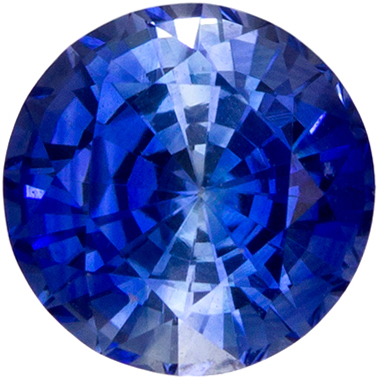 Loose Stunning 0.69 carats Sapphire Loose Genuine Gemstone in Round Cut, Rich Blue, 5 mm
