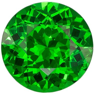 Classic 0.7 carats Green Tsavorite Round Genuine Gemstone, 5.7 mm